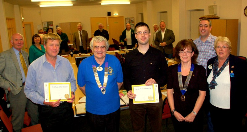 2 new members for Westbury Lions