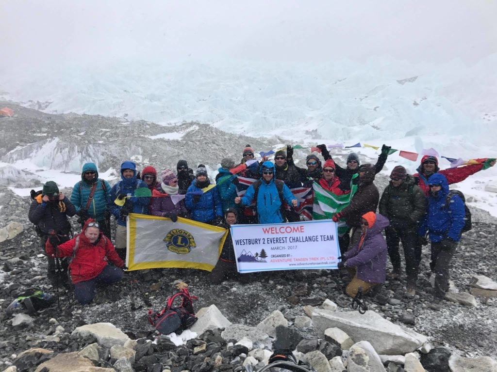 Westbury Lions Members trek to Everest Base Camp!