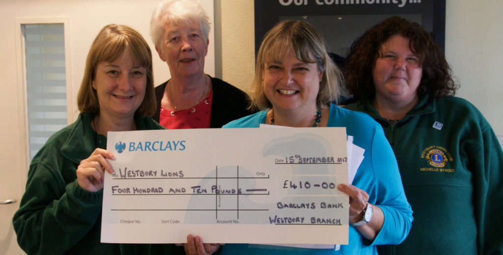 Barclays Bank – Fundraising for Westbury Lions!