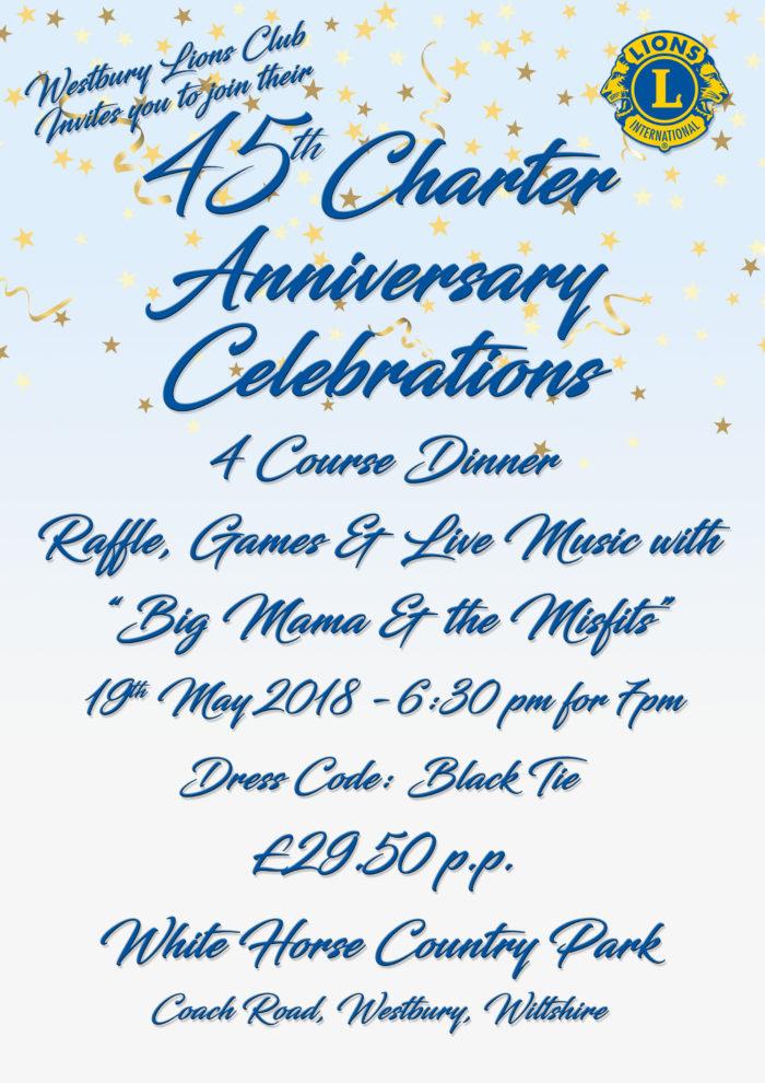 Westbury Lions Club Charter